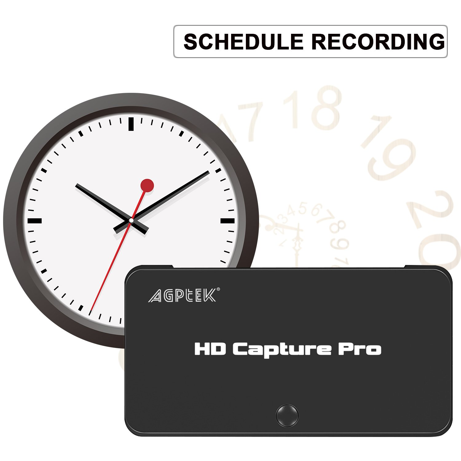 MYPIN 1080P HD Schedule Recording Video Capture,Live Streaming Video Game  Capture Compatible with Nintendo Switch PS4 and PS3, Xbox one,N64, Blu-Ray