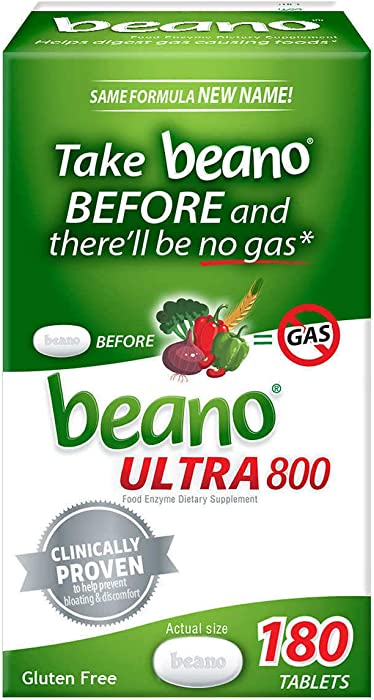 Beano Ultra 800 Food Enzyme - 180 Tablets