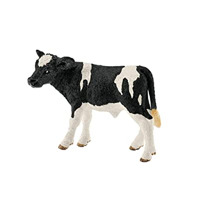 Schleich Farm World Holstein Calf Educational Figurine for Kids Ages 3-8: Schleich: Toys & Games