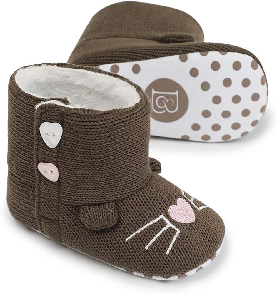 Baby Girl Shoe,Fineser Newborn Infant Baby Girls Heart Cozy Fleece Warm Winter First Walker Soft Sole Boot Shoes