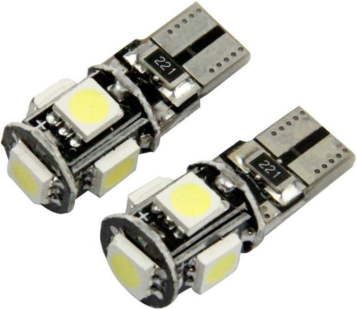 Ularma 10 X Canbus Error libre blanco T10 5 SMD 5050 W5W 194 16 Bombillas interiores LED