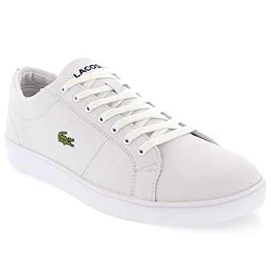 db8d96af7ec91a Lacoste Mens Marcel Cup Lace Up Low Top Leather Holiday Casual Trainers -  White Dark