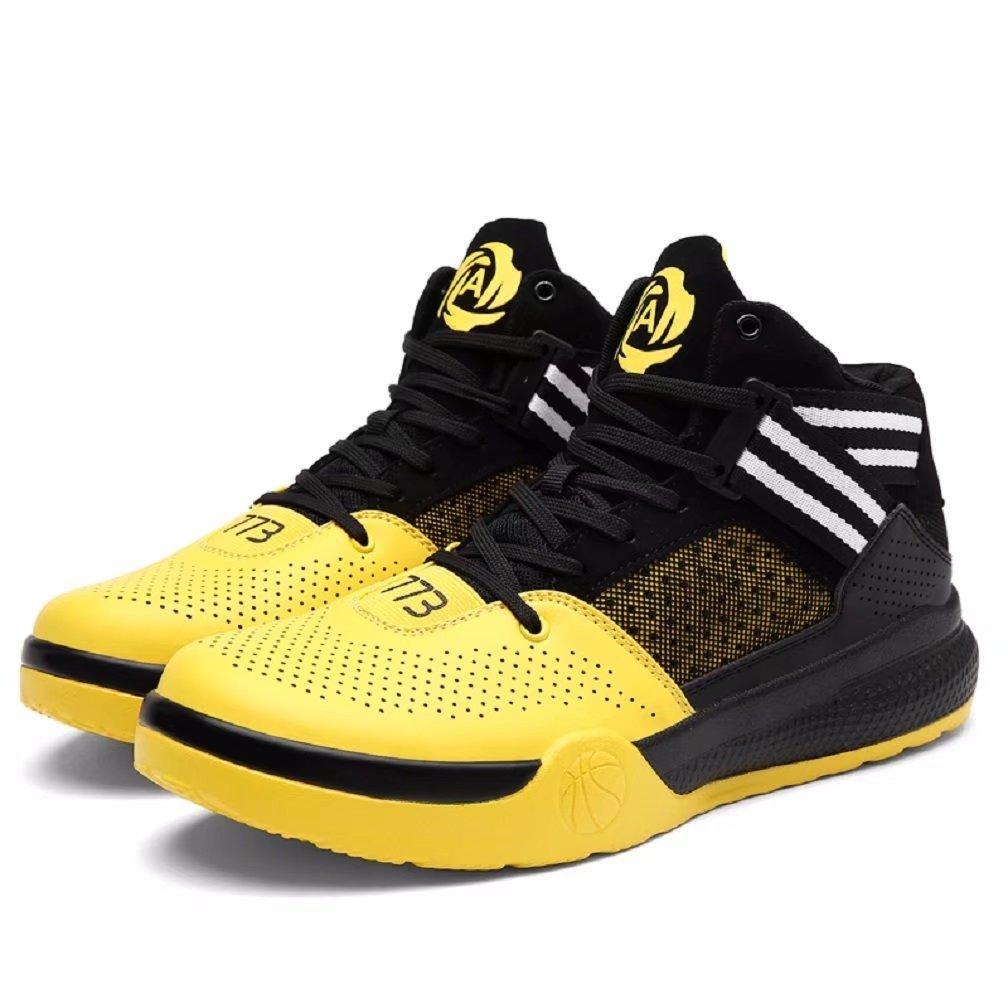 Men's Women's Performance Force Allstar Lightweight Breathable Mid Basketball Sports Running Shoes Sneakers B07C61SSLZ 10 D(M) US for men 11.5 B(M) US for women Yellow
