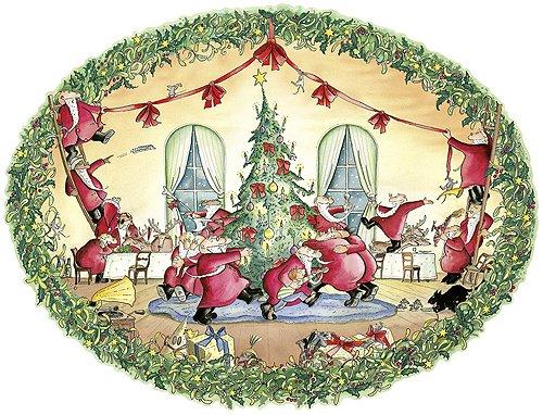 Das Weihnachtsmannkomplott: Eine etwas andere Weihnachtsgeschichte in 24 Bildern