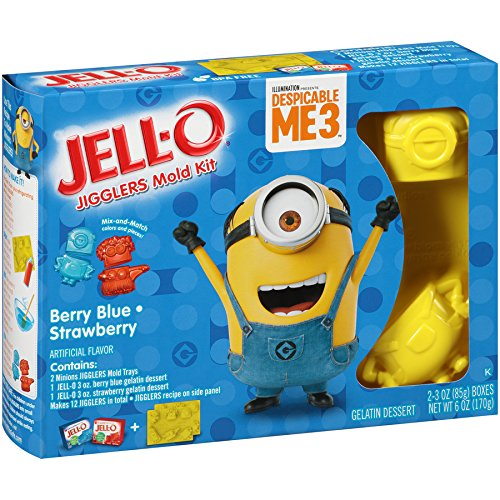 JELL-O Jigglers Despicable ME 3 Mold Kit, Blueberry/Strawberry, 6 Ounce -