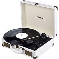 JORLAI Vintage Turntable 3-Speed Vinyl Record Player