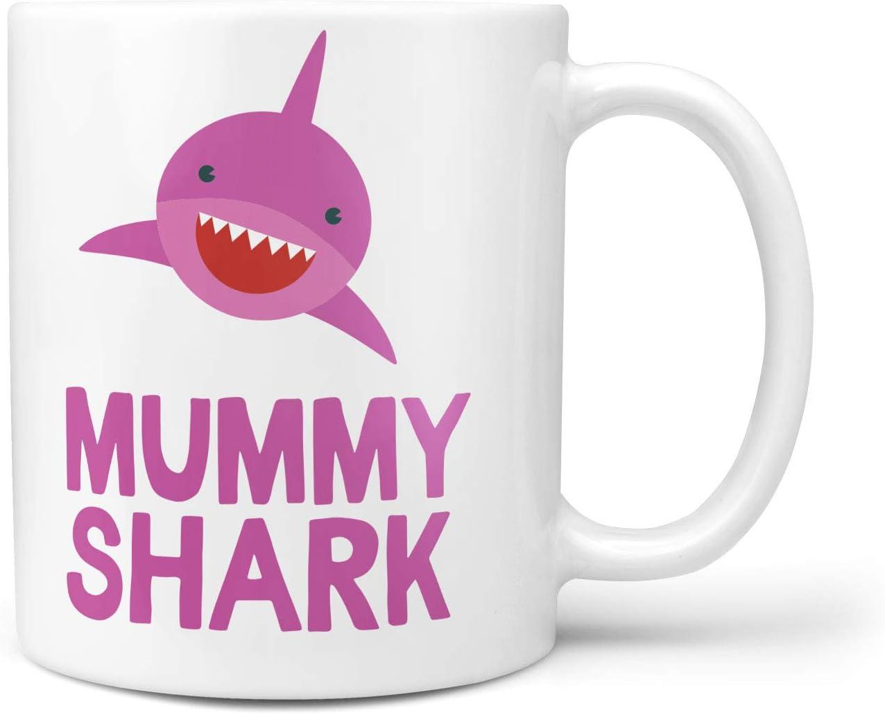 Ceramic Coffee mug Personalised For Free Mummy Shark Baby Shark