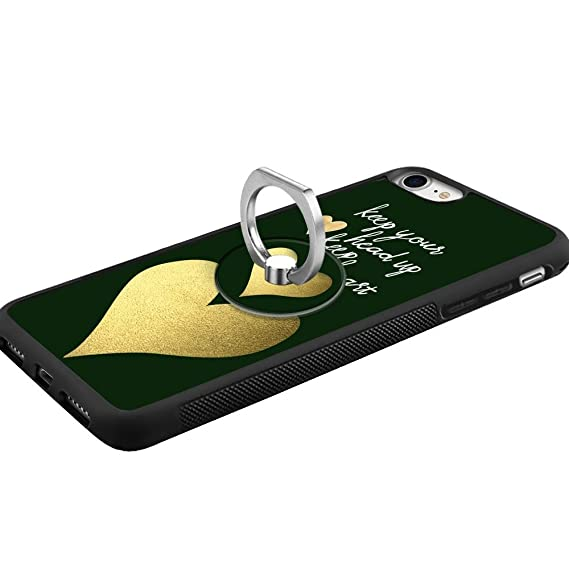 Amazon.com: Designed Gold Heart iPhone 7 8 Case with Ring ...