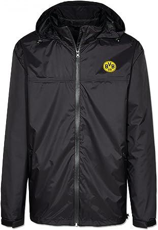 BVB 09 Borussia Dortmund Emblem pioggia giacca a vento, nero ...