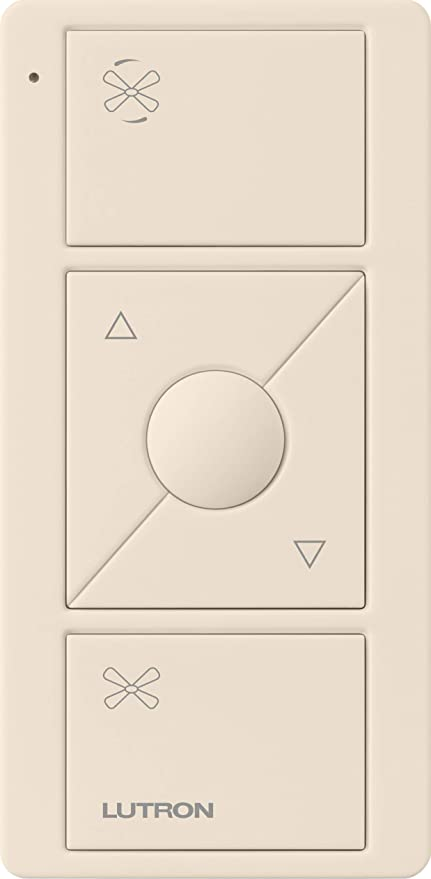 Lutron Pico Remote for Caseta Wireless Smart Fan Speed Control, PJ2-3BRL-GLA-F01, Light Almond - - Amazon.com