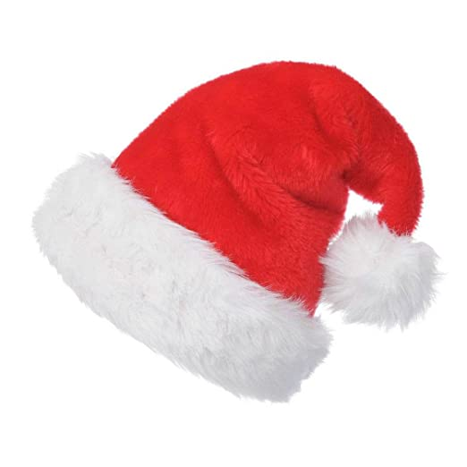 6316b748279c9 Christmas Santa Hats for Adults Red Xmas Santa Hat with White Trim SD030