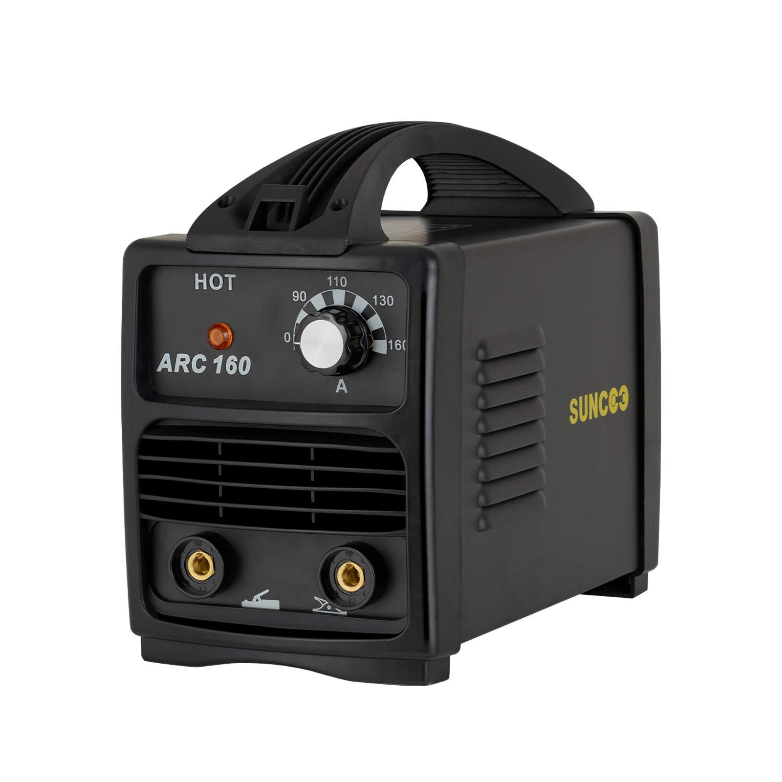 SUNCOO 160A ARC Welding Machine 110V Mini Energy-saving Portable Stick Welder with Mask and Brush Black