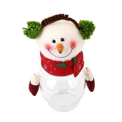 Kicode tarro de caramelos Navidad Caja de azúcar Botella partido de almacenamiento Contenedor de regalo Monigote