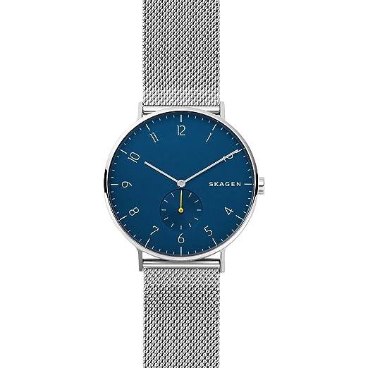 Skagen Reloj Analógico para Hombre de Cuarzo con Correa en Acero Inoxidable SKW6468: Amazon.es: Relojes