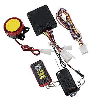 MagiDeal Sistema de Seguridad Alarma para Motocicleta Bici Inmovilizador De Motor Kit De Control Remoto Accesorios