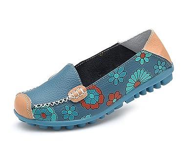 d31cfc24d08e Always Pretty Women s Comfortable Driving Shoes Slip On Boat Pregnant Women  Shoes Blue ...