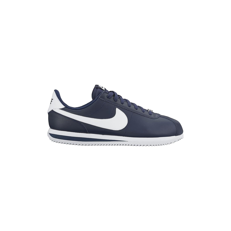 Obsidian Metallic argent blanc Nike Men's Cortez Basic Leather chaussures, Chaussures de Trail Homme 47 EU