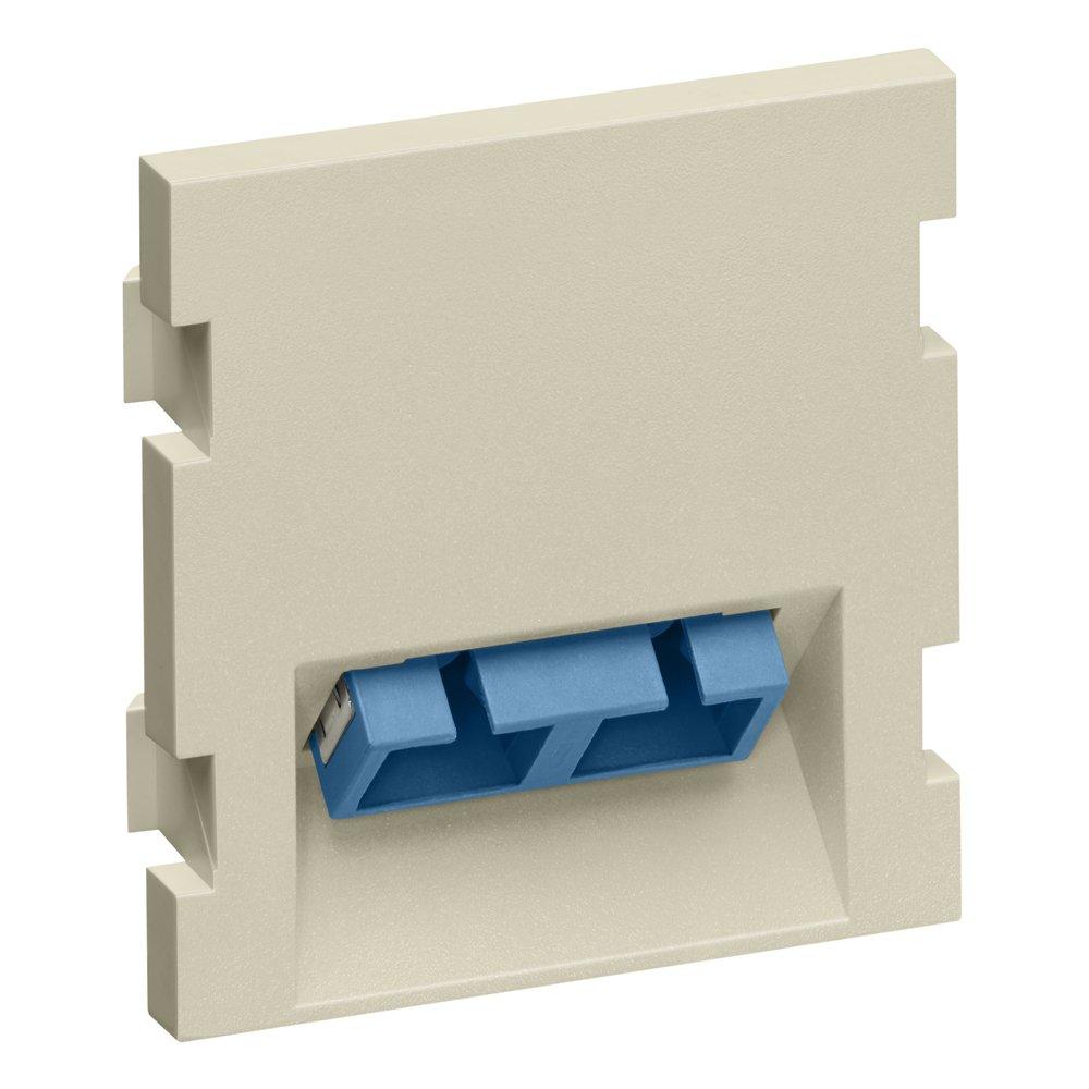 Leviton 41294-2CW 1 Duplex SC White Blue 45 Degree exit Single Mode//Multi Mode 1.5-Units High Zirconia Ceramic
