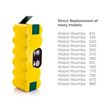 morpilot iRobot Roomba Batería, 2PCS 3800mAh iRobot Roomba Batería de Ni-MH para iRobot Roomba los Series 500 600 700 800 900: Amazon.es: Hogar