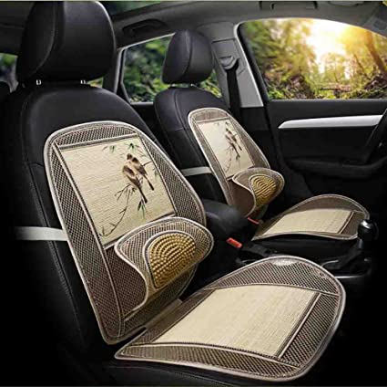BMDHA Car Seat Covers Summer Cushion Perspiration Mat Massage Breathable Comfortable Front