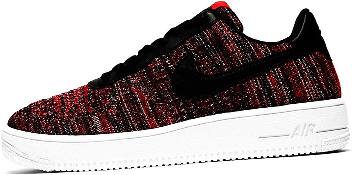 pelota Creo que Matemáticas  Amazon.com | Nike Mens Air Force 1 Flyknit 2.0 University Red/Wolf Grey/ White/Black CI0051-600 Basketball Shoes | Basketball