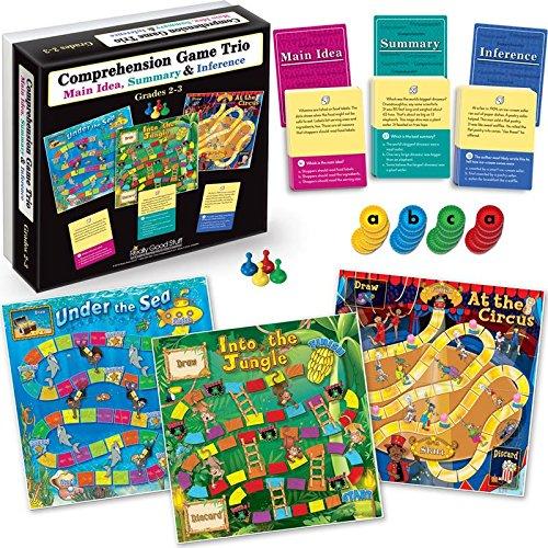 Really Good Stuff Comprehension Game Trios: Set Of 4 - Grades 2-5