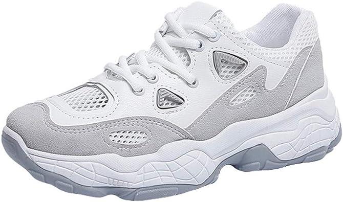 Zapatillas Deportivas de Mujer Mesh Running Sneakers Respirable Zapatos Zapatillas para Caminar Casual Zapatos para Correr Gimnasio Calzado 36-40 EU: Amazon.es: Zapatos y complementos