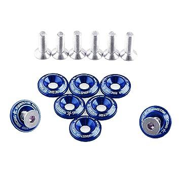 Sharplace 8 x Direkt Ersatz Kotfl/ügelschrauben Unterlegscheiben Fenderwasher f/ür Autos Schwarz