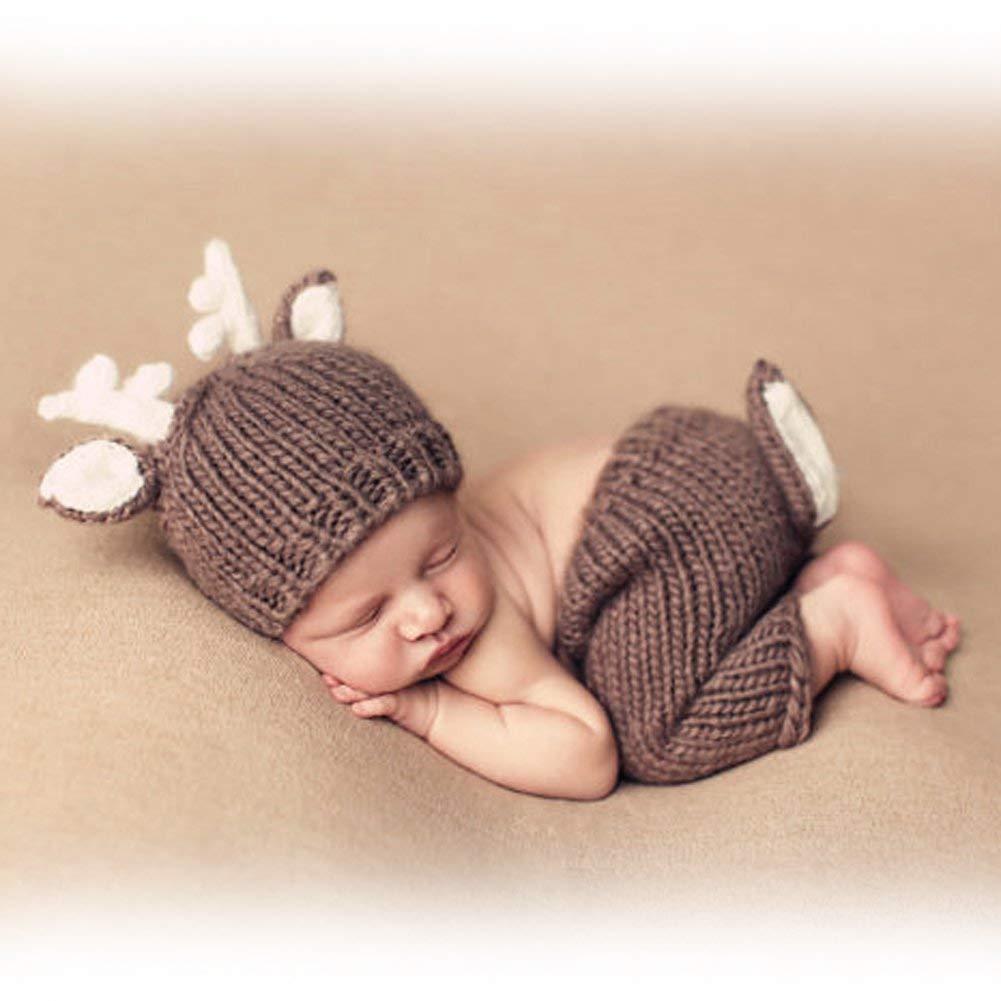 HaimoBurg Newborn Baby Fotografie Zuckersüsse Kostüm Fotoshooting Baby-Outfits 0-3 Monate