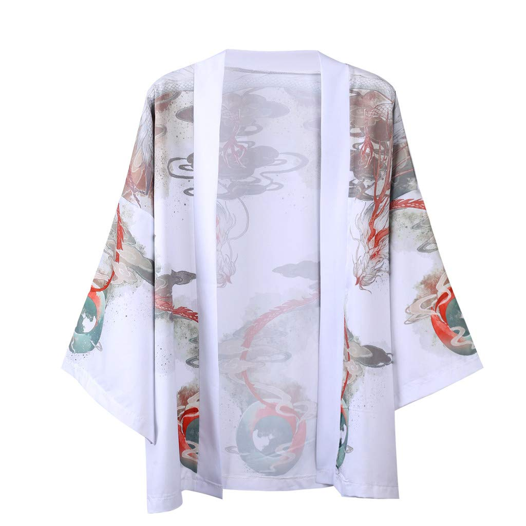 Lovers Fashion Retro Robe Loose National Print Short Sleeve T-Shirt Top Blouse Red by LOOKAA
