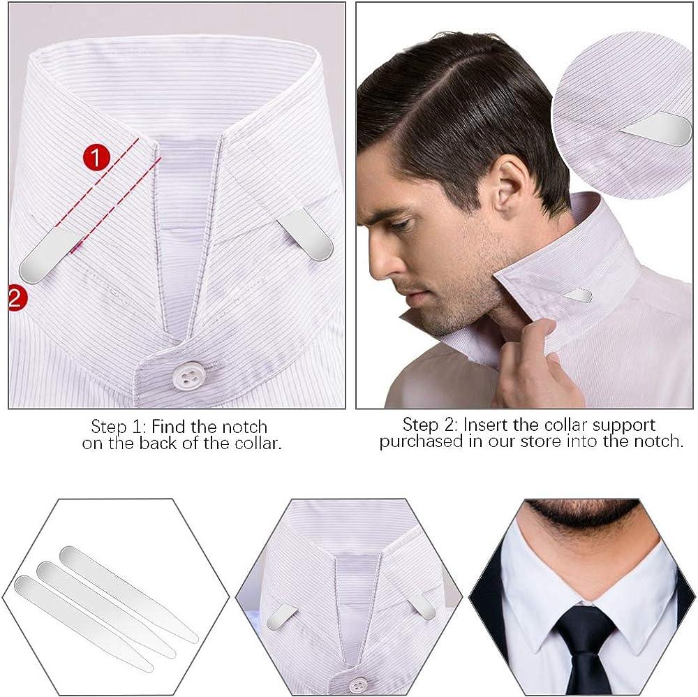 YUSHIWA 8 PCS Ballenas de Cuello de Camisa Resistente Stays Collar de Acero Inoxidable para Navidad, Regalos de Cumpleaños, Día del Padre, Bodas, ...