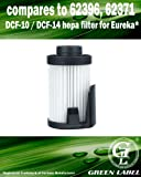 For Eureka DCF-10 / DCF-14 HEPA Vacuum Filter (compares to 62396, 62371). Genuine Green Label Product.