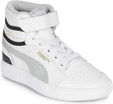 puma white velcro trainers