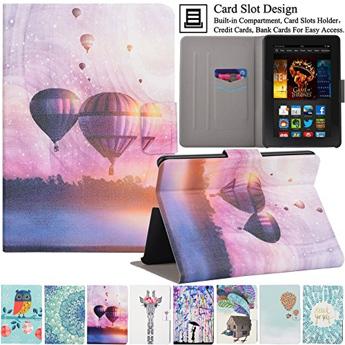 Kindle Fire HDX7 Case, Artyond Ultra Lightweight PU Leather Case Flip Stand Magnet [Auto Wake/Sleep Feature] Protective Slim Folio [Cards Slots] Smart Case For Amazon Kindle Fire HDX 7 2013 (Sunset)