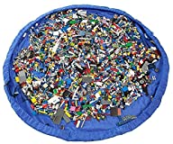 Homecube Large 59 Inches Diameter Baby Kids Play Floor Mat Toy Storage Bag Organizer Blue