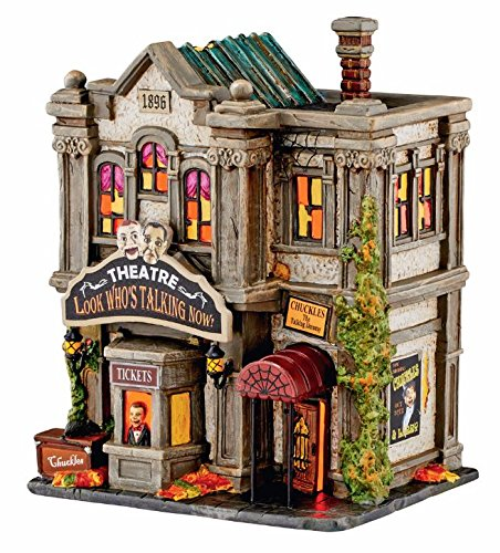 Department 56 Halloween Village Look Who's Talking Now Theater Building 4051010 (Snow Accessory Village Halloween)