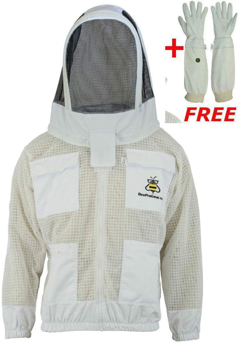 Three Layer Bee Ultra Ventilated Beekeeper Beekeeping jacket Fencing Veil L