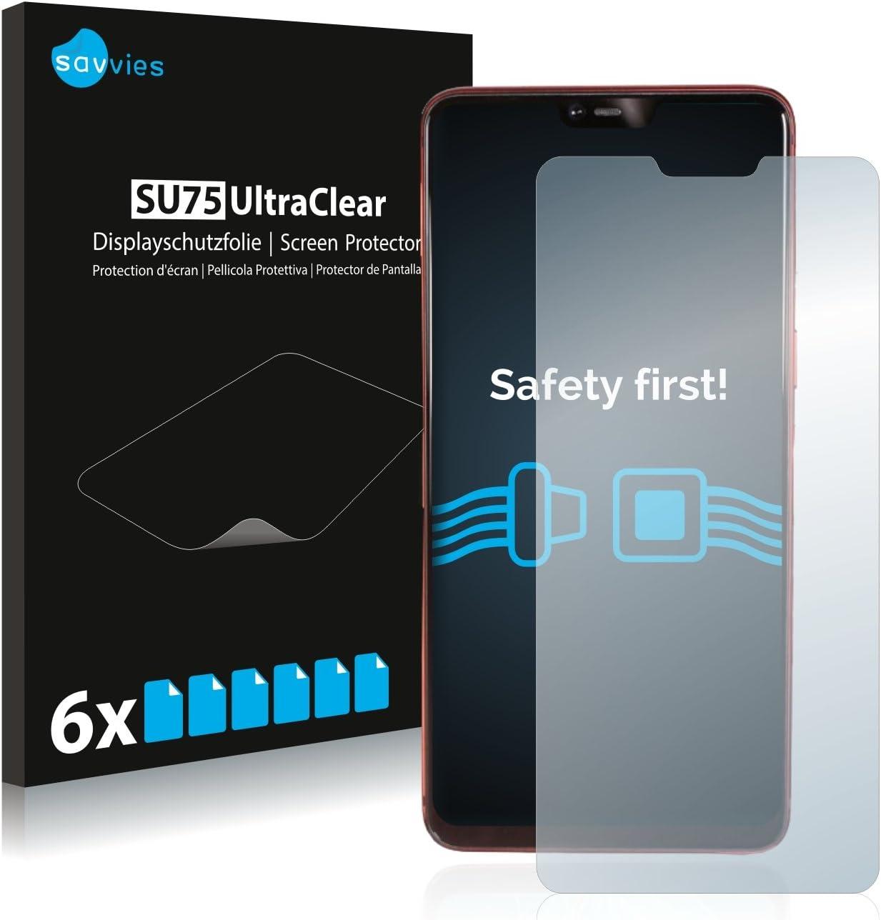 savvies Protector Pantalla Compatible con OPPO R15 Pro (6 Unidades) Pelicula Ultra Transparente: Amazon.es: Electrónica