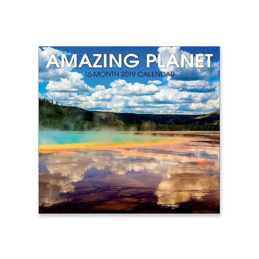16 Month Premium Wall Calendar 2019 - Amazing Planet - Each Month Displays Full-Color Photograph. Printed on Linen Embossed Heavyweight Paper Stock