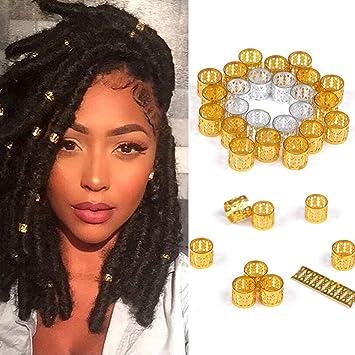 Amazon Com Alileader 100pcs Gold Hair Clips Dreadlock Accessories Hair Beads For Braids For Women Hair Jewelry For Women Braids Hair Accessories For Braids Hair Cuffs Hair Jewelry For Locs Golden