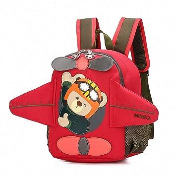 JZTRADING Mochila para Niños Mochila para Niños Pequeños Dibujos Animados Personalizados Avión 3D Oso Lindo Seguridad Ligera Portátil Mochila de Viaje para ...
