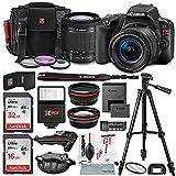 Canon EOS Rebel SL2 DSLR Wi-Fi Camera with EF-S 18-55mm STM Lens (Black) Bundle w/ Flash + Lenses + Filters + 32&16GB + Xpix Tripods & Cleaning Kit