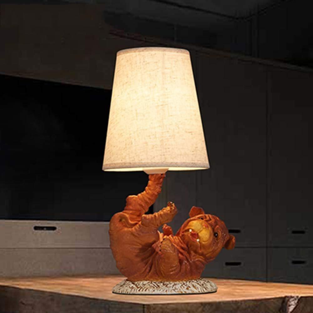 MJK Lámpara de mesa, Ideal lectura Light- americana rural nórdica ...