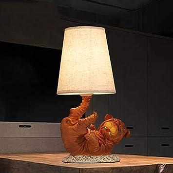 MJK Lámpara de mesa, Ideal lectura Light- americana rural ...
