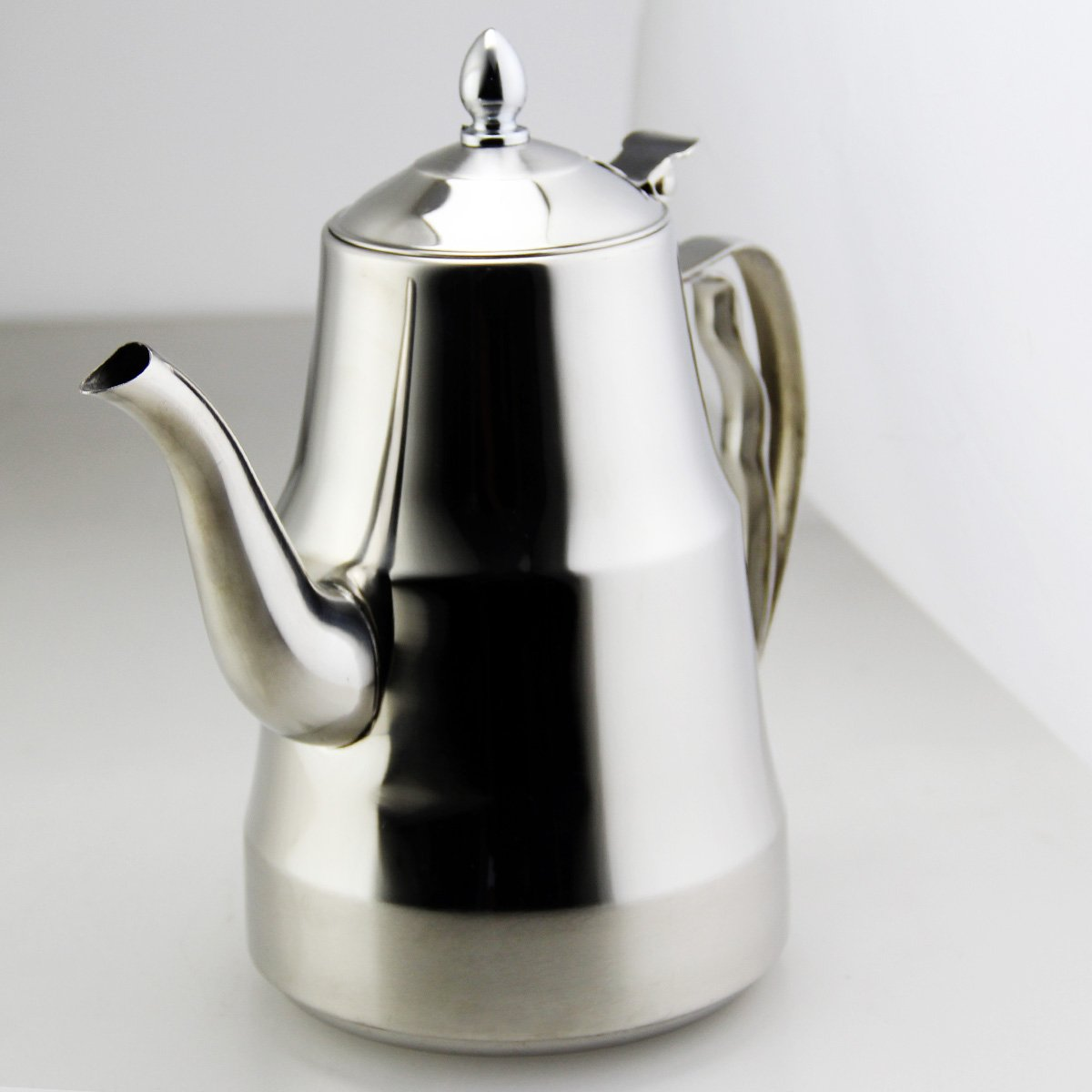 GS-028212-2.0L Riwendell Stainless Steel Mirror Finish Tea Kettle Stovetop Tea Pot 2.1-Quart