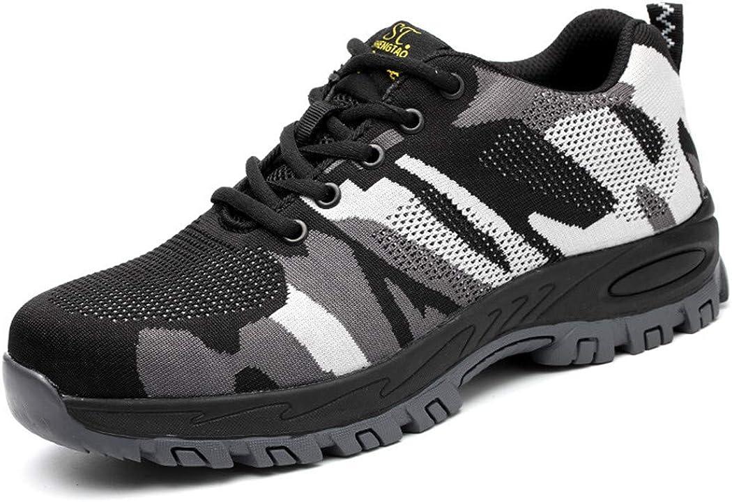 Zapatillas Protectoras ultraligeras y Transpirables para Hombre, con Revestimiento de Acero, con Aislamiento, antigolpes y a Prueba de pinchazos, Color Blanco, Talla 39 EU: Amazon.es: Zapatos y complementos