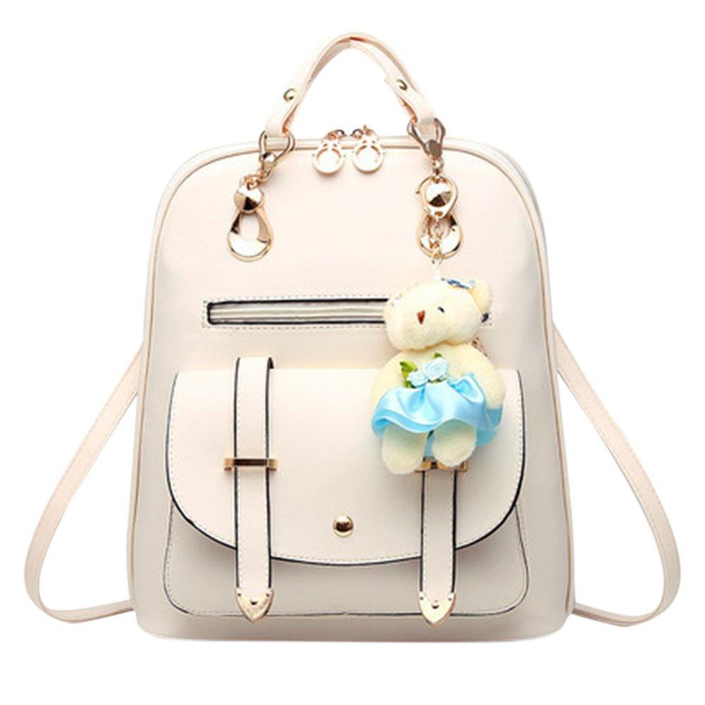 Fashion Leisure School Leather Backpack All-match High Capacity Shoulder Bag Teens Girls Travel Bag
