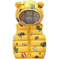 Niños Invierno Chaleco Chaqueta Infantil Chaleco Niñas Sin Mangas Ligero Acolchado Cálido Amarillo 6-12 Meses