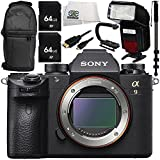 Sony Alpha a9 Mirrorless Digital Camera (Body Only) 9PC Accessory Bundle – Includes 2x 64GB SD Memory Cards + Scorpion Stabilizer + MORE