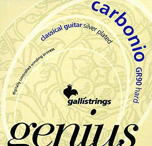 CUERDAS GUITARRA CLASICA - Galli (GR90) Genius Carbonio (Tension Fuerte) (Juego Completo)